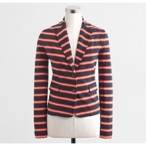 J Crew Navy and Orange Blazer